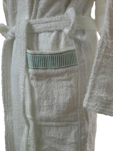 Bademantel Schwamm mit Haube Jolly 100/% Baumwolle CALEFFI weiß Unisex