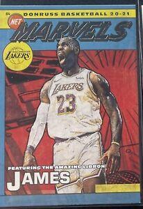LeBron James 2020-21 Donruss Marvels Silver Foil Insert #15 LA Lakers MVP GOAT