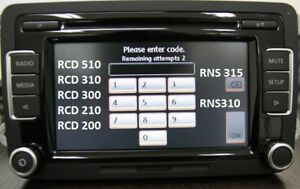 VW-Radio-Desbloqueo-decodificar-servicio-de-codigo-RCD510-RCD310-RNS315-Etc-Alfa-Beta-Gamma