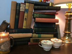 Lot-of-10-Vintage-Old-Antique-Books-All-Hardcover-Mixed-Color-Unsorted