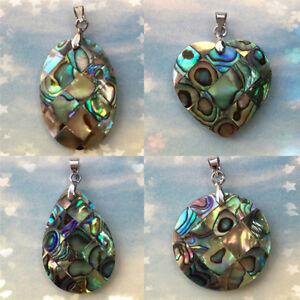 Handmade-Abalone-Shell-Pendant-Charm-Beads-Pendant-Jewelry-Making-DIY-H-ti