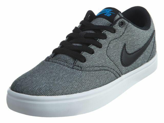 Size 10 - Nike SB Check Solarsoft Canvas Black White for sale ...