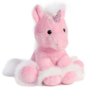 "STUFFED PINK UNICORN - Dreaming of You - Aurora World - 12"" - NEW - #07789 SALE"