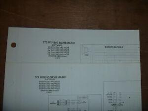 Bobcat 773 Skid Steer Electrical Wiring Diagram Schematic Manual S/N  519011001 | eBayeBay