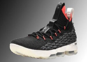 3ee63fffb0d Nike LeBron XV 15 AQ6176 002 GS Boy Basketball Shoes Black Crimson ...