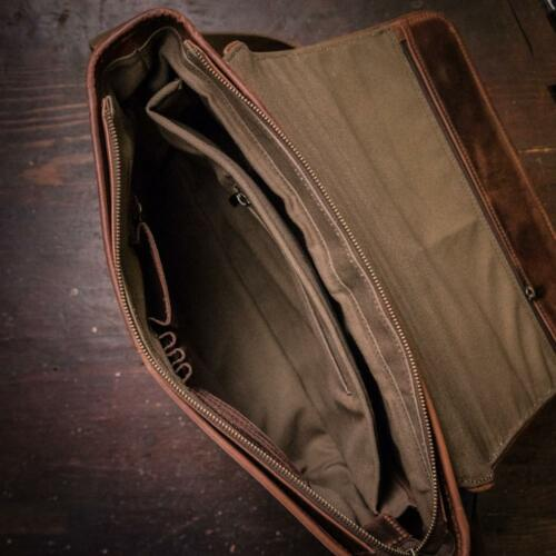 Buffalo Leather Messenger Bag 13 In Laptop Satchel Crossbody Shoulder Bags