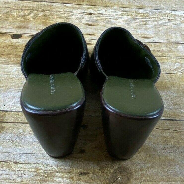Tommy Hilfiger Hydrangea Dark Brown Mule Wedges C… - image 3