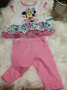 Nwt Disney Baby Girl Minnie Mouse Outfit