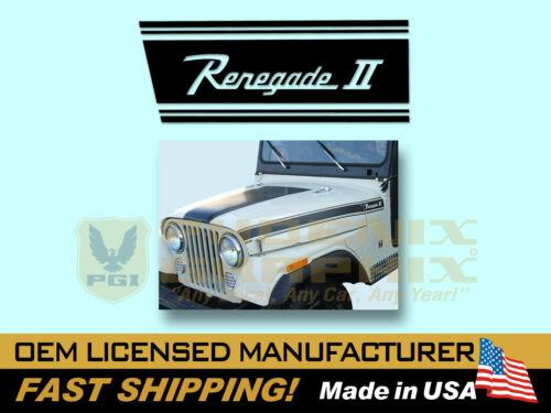 1971 Jeep Renegade II CJ5 Decals /& Stripes Kit