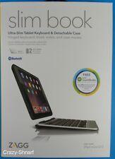 ZAGG Slim Book Thin Case Detachable Backlit Keyboard Apple iPad mini 1 2 3 Black