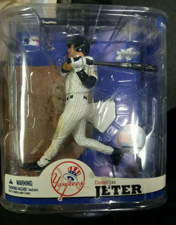 Derek Jeter New York Yankees McFARLANE MLB serie 22 figura de error ra 1 1 sin shin Guard