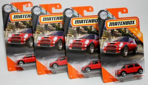 LOT OF 4 RED /& BLACK 2003 AUSTIN 2020 MATCHBOX /'03 MINI COOPER S