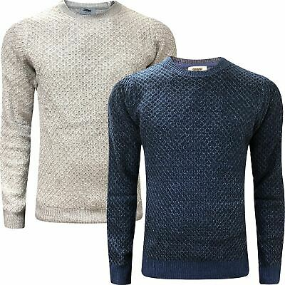 Ehrlich New Mens M&s Weave Knitted Jumper Textured Crew V Neck Winter Pullover Sweater