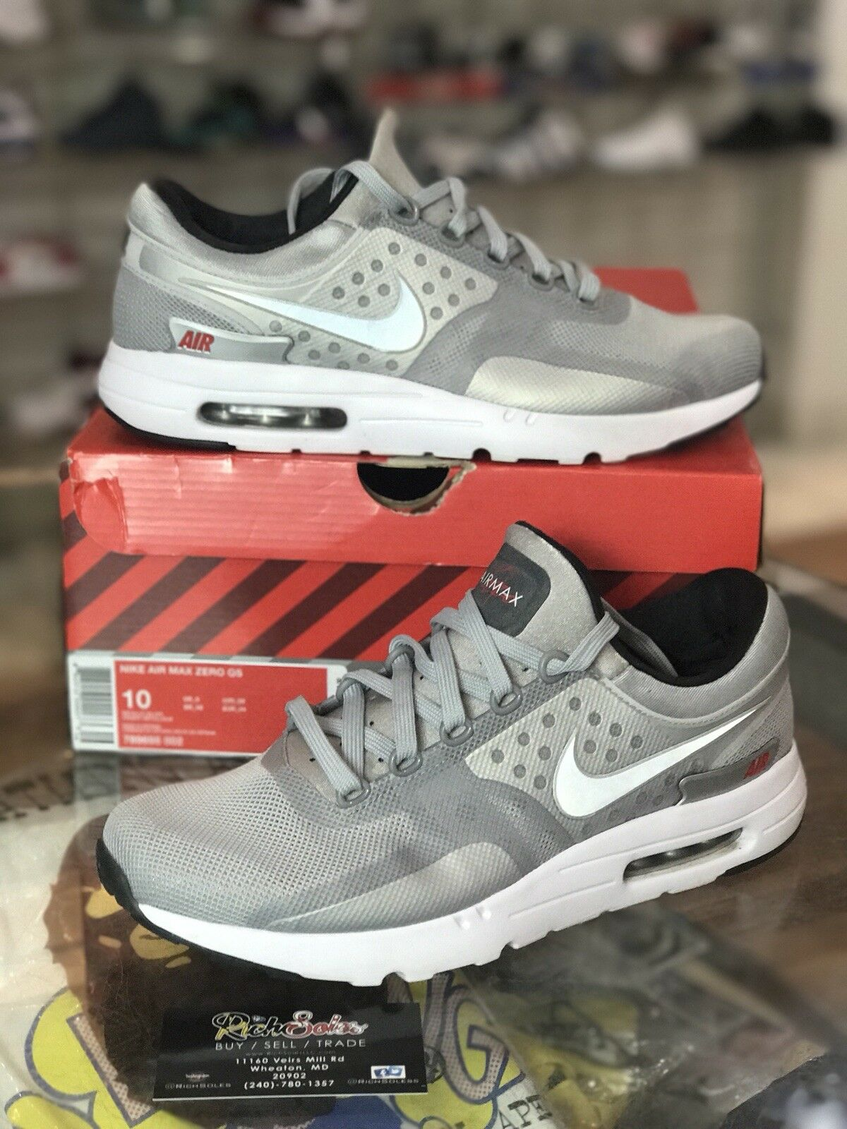 Nike Air Max Cool Zero QS Men's Shoes Cool Max Grey/DK Grey/Wolf Grey 789695-003 Size 10 a8f0a9