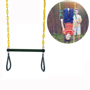 Outdoor Heavy Duty Gym Ring 18 Trapeze Bar Combo Swing Accessory