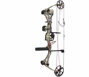 New-Bear-Archery-Finesse-50-RH-Womens-Max-1-Camo-RTH-Bow-Package