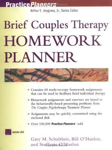 Divorce counseling homework planner