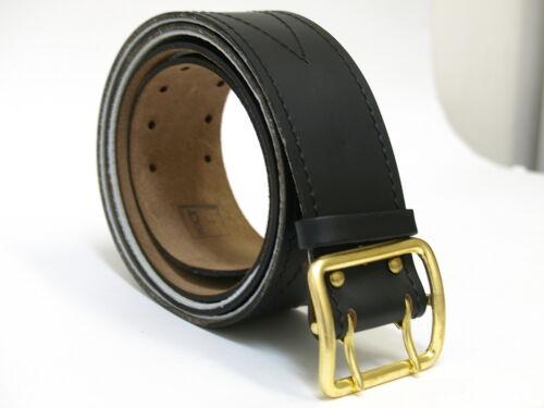Original Soviet Union Russian Army Officer Real Genuine Leather Black Belt 110cm
