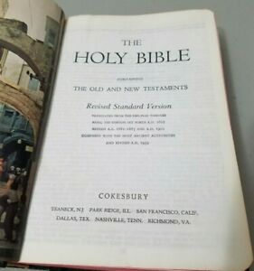 Holy Bible Revised Standard Version Cokesbury 1952 *GOOD* Free Ship!