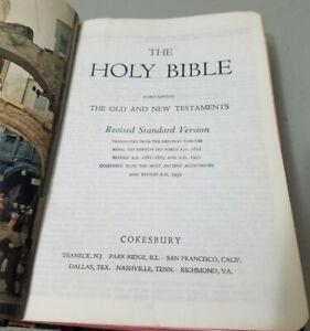 Holy Bible Revised Standard Version Cokesbury 1952 *GOOD* Free Ship!