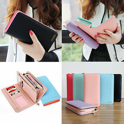 Fashion Womens Leather Bifold Wallet Clutch Card Holders Lady Purse Long Handbag