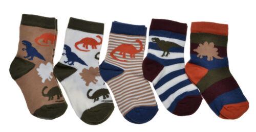 5 Paar Baby Dinosaurier Socken Jungen