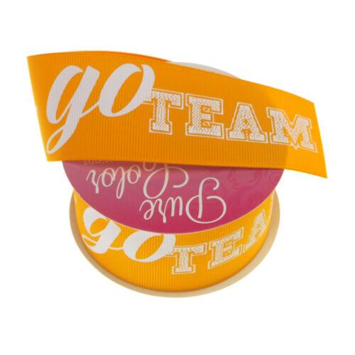 3 Yards 1-1//2-Inch Go Team Sports Grosgrain Ribbon