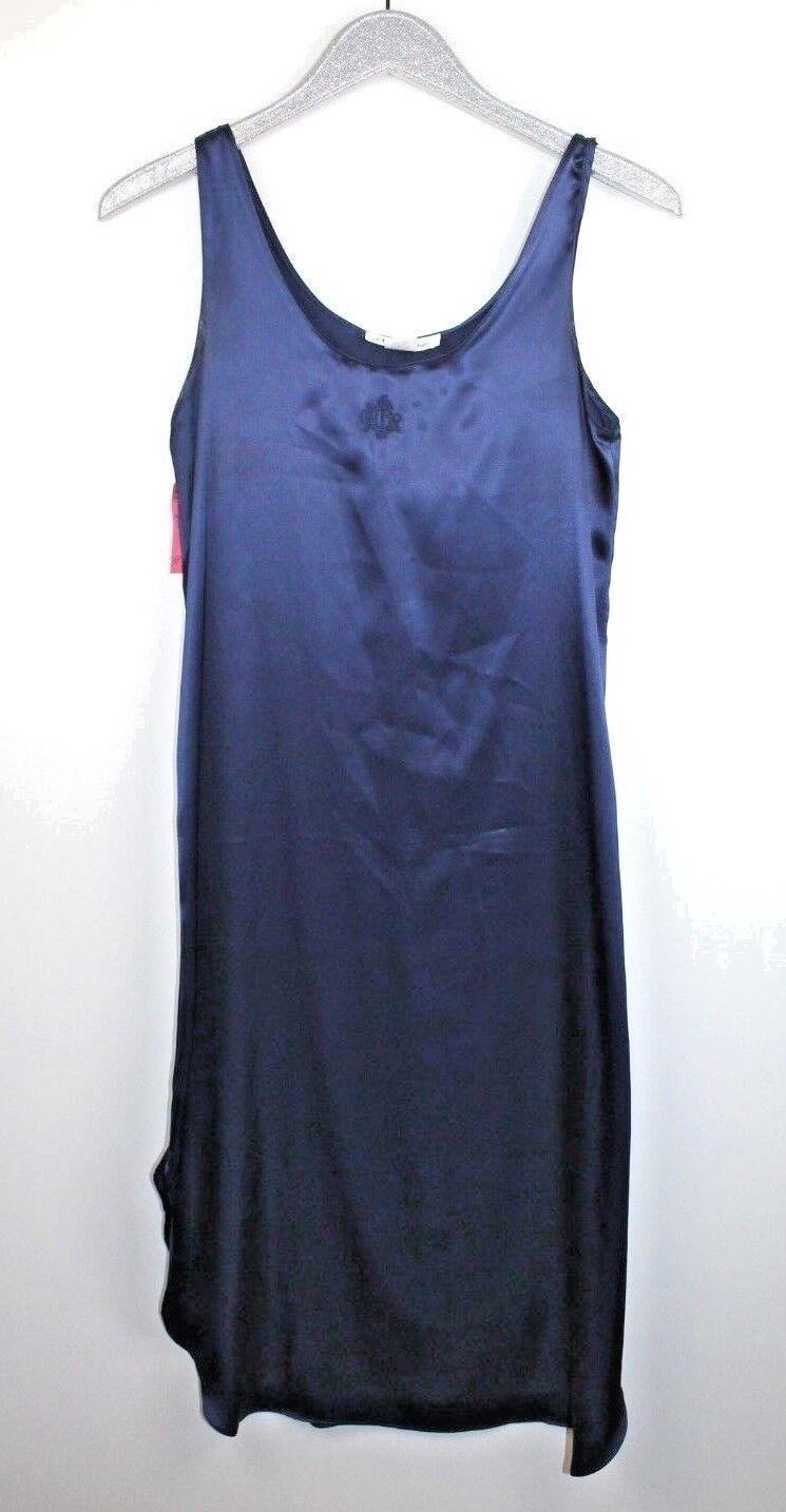 Vintage Christian Dior navy bluee Slip Night Gown w  Vintage Nordstrom Price Tag
