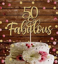 50 Fabulous Black 50th Birthday Cake Topper Made By