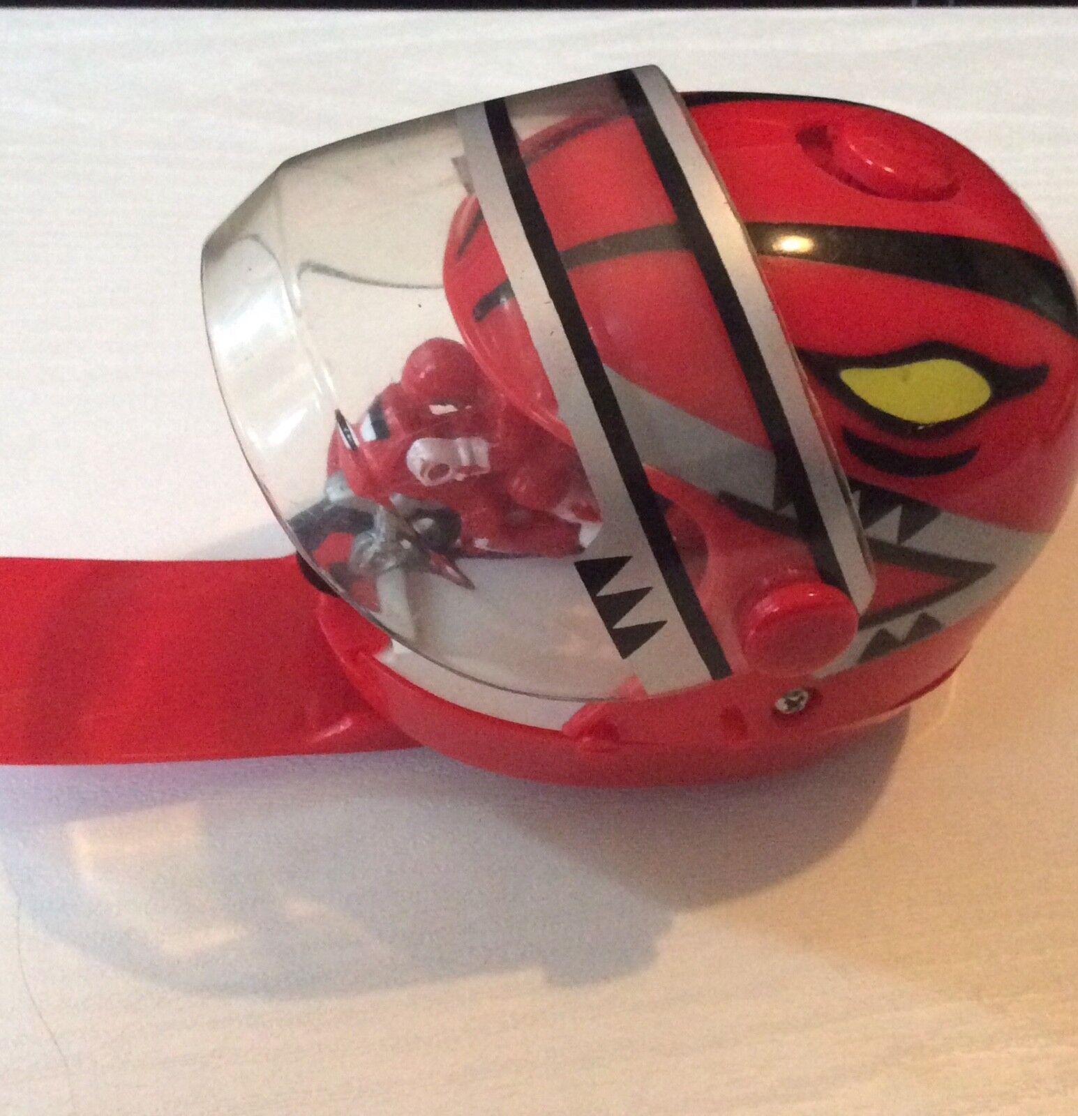Power Rangers ROT Ranger Helmet, ROT ranger figurine on a motorbike inside,1990s
