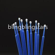 400 Pcs Dental Disposable Micro Applicator Brush Bendable 25mm Blue Regular