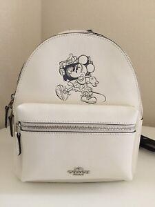 700e0207e07 Image is loading NWT-Coach-X-Disney-Minnie-Mouse-Charlie-Backpack-