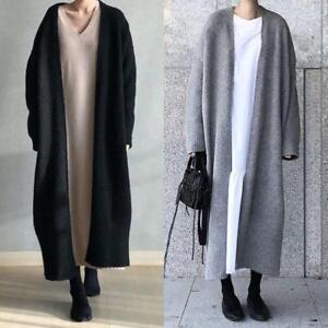 in da Parka Giacche Cardigan lunghi donna Cappotti Chunky Maglioni maglia Duster caldi wqCTT61