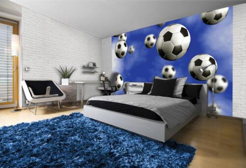 187 Photo Wallpaper Wall Mural Wallpaper Footballs Falling in Sky