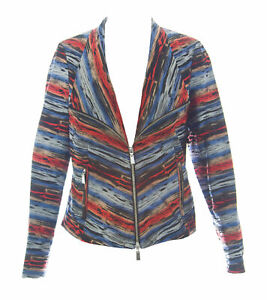 Giacca Zip Righe Con 600 Jacquard Multicolore Techy A West C8wHxqP