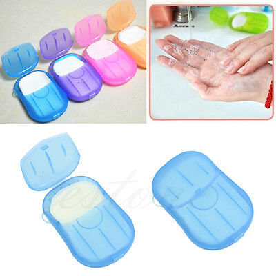 Portable Washing Hand Bath Travel Scented Slice Sheets Foaming Box Paper Soap
