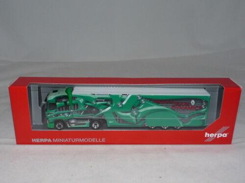 herpa 310796-002 Renault T Koffer-Sattelzug Tour de Dynamics grün 1:87 NEU ...