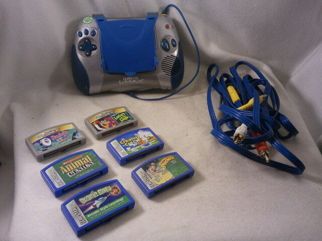 Leapster Learning Game System LeapFrog plus AV Cable 6 games Valued at over  200