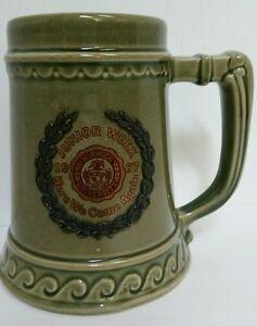 Vintage-Green-1967-Norwich-University-Junior-Week-Beer-Mug-Here-We-Come-Again