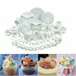 30 Pcs Baking Fondant Cake Decorating Plunger Cutters Tools Mold Cookies Set