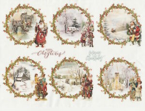Rice Paper for Decoupage Scrapbooking Sheet Christmas