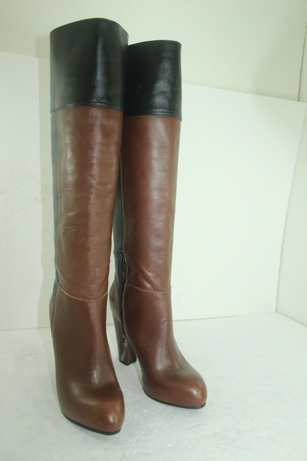 Latitude Femme Handcrafted In Italy Genuine Leather Heel Boots  Sz 36 US SZ 6