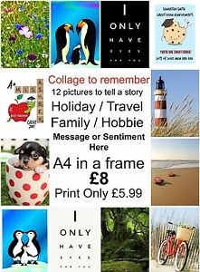 Personalised-Collage-Custom-Photo-Picture-PRINT-ONLY-Image-celebration-memories