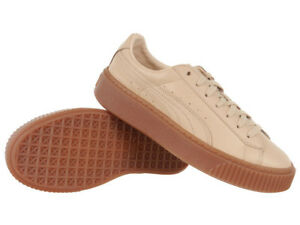 Women s PUMA x NATUREL Platform Veg Tan Sneakers Beige Leather Upper ... 381c5ab14