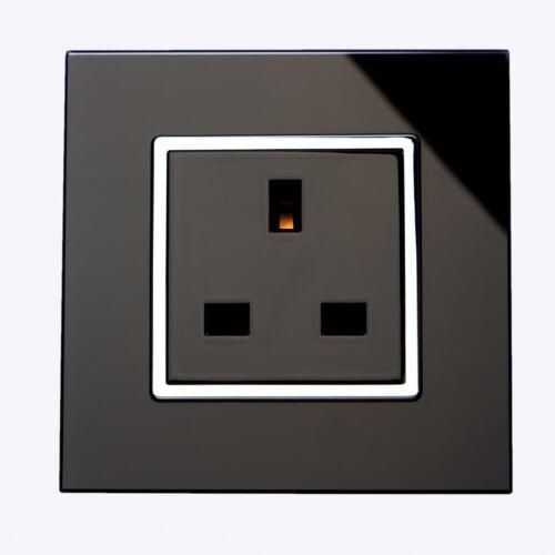 Illucio 1 et 2 Gang verre commuté /& ONU-Switched 13 A prise électrique Douilles