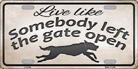 Gate Open Novelty Metal License Plate