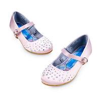 Disney Store Elsa Pink Gem Party Dress Shoes Costume 8 9 11 13 Frozen Queen