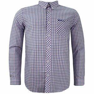 Ben Sherman Camisa de cuadros de manga larga para hombre