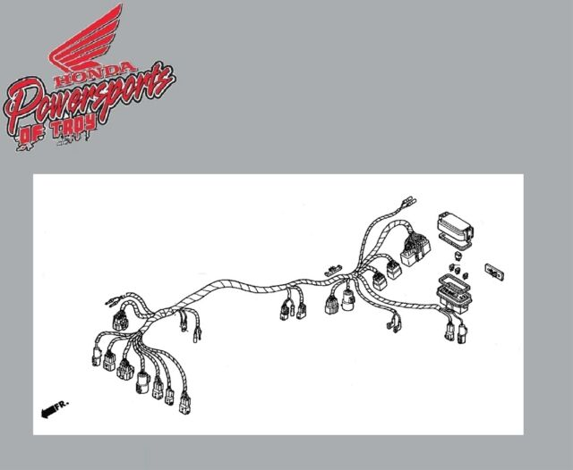 Honda Rancher 350 4x4 FM 04-05 Wiring Harness 14068 on