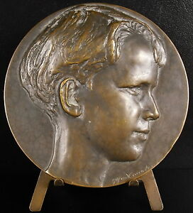 Medaglia-pro-Juventute-Sc-Alfred-Courtens-Belgio-1930-Charles-Prion-319g-Medal